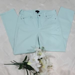 NYDJ Mint Green Ankle Jean Size 10